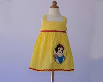Girl Snow White Dress toddler Snow White dress birthday dress girl  toddler baby dress girl outfit girl Snow white outfit girl dress