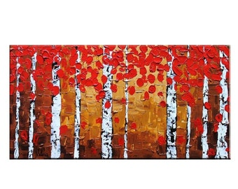 Original Painting, Abstract Painting, Large Art, Wall Art, Large Abstract Art, Canvas Art, Birch Tree Painting, Canvas Painting, Large Art