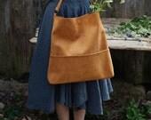Genuine leather hobo bag with regulated handle, mat leather shoulder bag