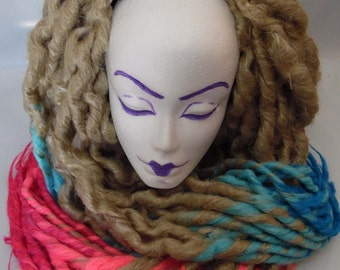 """30"""" Set of Harley Quinn Inspired Synthetic Dread Lock Pigtails"""