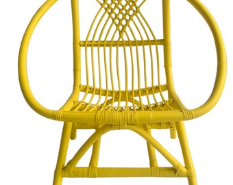 Kids Yellow Rattan Chair