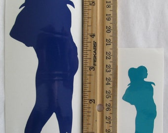 Vinyl Gamer RPG Car Window Decal Sticker Female Witch Wizard Dancer Silhouette Role Playing Game Gaming D&D Dungeons Dragons