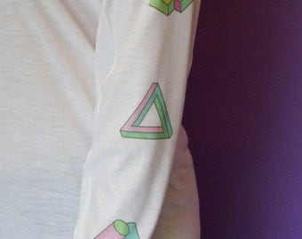 Geometic illusions long sleeved t-shirt