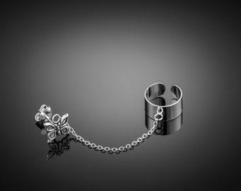 Silver Ear Cuff earring chain. ear cuffs earring. silver ear cuff. earcuff. boho earring. ear cuff chain. chain ear cuff. ear cuff silver.