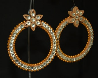 Golden Quilled earrings