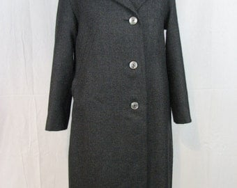 Long coat wool anthracite