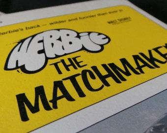 SUPER SALE Vintage Herbie The Love Bug Paperback Novels - Monte Carlo - Matchmaker