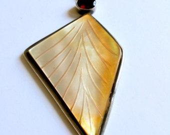 Golden Semi Precious Stone Pendant