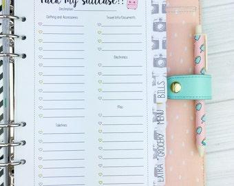 A5 Kawaii Planner Insert - Packing List