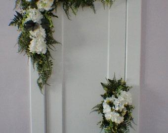 Wedding Arch Swag, Extra Large Wedding Swag, Archway Flowers, Silk Arch Flowers, Church Swag, Corner Wedding Swag, Arbor Swag