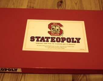 N.C. STATEOPOLY - Board Game - 1987 - First Edition
