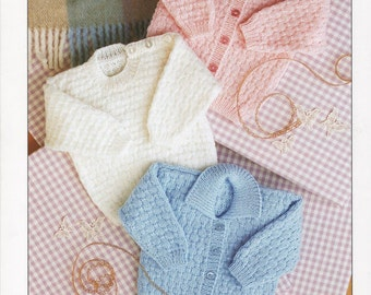 baby cardigan and sweater dk knitting pattern 99p pdf
