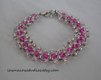 beaded bracelet - daisy chain - various colors