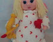 Crochet Angel of Love  Angel toy  Love Angel  Spiritual gifts   Handmade Stuffed Angel  Love Gifts  Angel Gifts