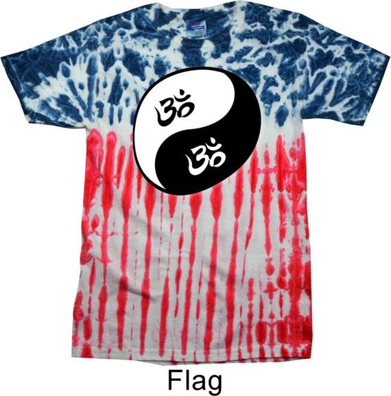 Yoga Clothing For You Mens Shirt Yin Yang AUM Patriotic Tie