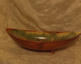 Royal Haeger Pottery Bowl- green and orange