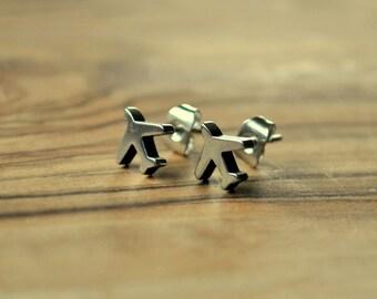 Airplane Studs - Earrings
