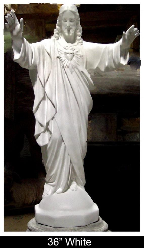 "Jesus Blessing Beckoning 36"" & 60""  Fiberglass Catholic Christian Religious Statue"