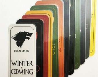 Game of Thrones House Bookmarks