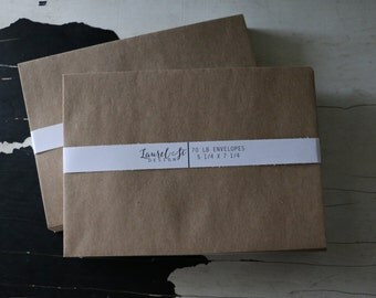 "Kraft Brown A7 Envelopes ~ Grocery Bag Envelope ~ Invitation Envelope ~ Size 5 1/4"" x 7 1/4"" ~ qty 25"