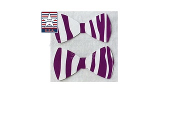 12 Purple Zebra Bowtie Zebra Stripe Paper Bow Tie Diecut Shower Bowtie Confetti Zebra Bowtie Cupcake Topper Animal Theme Birthday Boy Bowtie