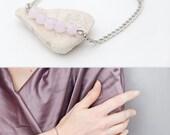 Pink crystal bracelet Rose Quartz crystal bracelet Czech crystal bracelet Crystal beaded jewelry Delicate layering bracelet Minimalist