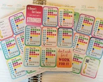 MISFIT 21 Day / 3 Week Diet Planner Stickers