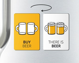 Beer magnet - BUY BEER - unique gift, beer, fridge magnets, refrigerator magnet, funny fridge magnets, alcohol gifts, beer lover gift