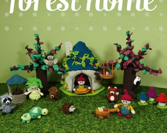 Amigurumi ebook, Life around the Forest Home, crochet patterns