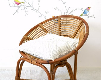 Childs Wicker Chair Etsy