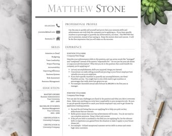 professional resume template for word pages one two and three page resume template