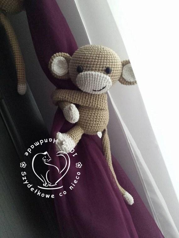 Amigurumi Which Side Is Right Side : Amigurumi monkey curtain tie RIGHT side
