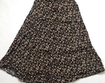True Vintage Button Front Maxi Skirt