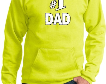 Number 1 Dad Adult Hoody 1DAD-PC90H