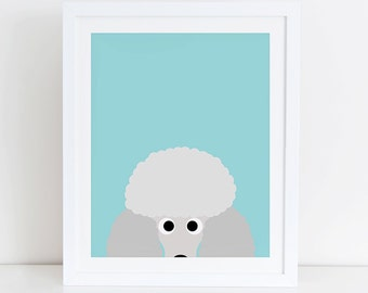 Poodle Art Print, Poodle Printable, Instant Download, Printable Dog, Poodle Lovers Print, Poodle Print, Poodle Decor, Dog Wall Art