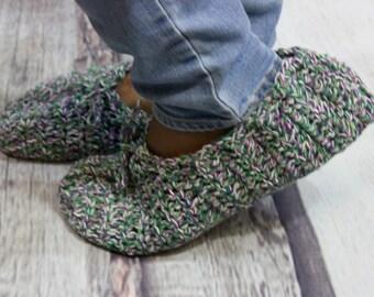 Crochet Slippers - Warm Slippers - Cotton Slippers - Womens Slippers - House Slippers - Gifts for Her - Girlfriend Gift - Handmade Slippers
