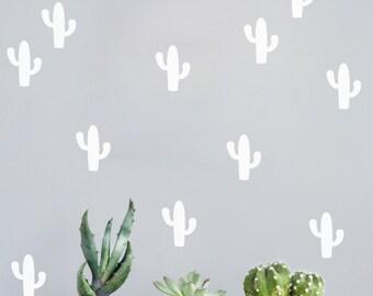 Cactus decal, Cactus Wall Decal, kaktus,  Cactus wall sticker, cactus decal, stickers cactus, mural cactus, cacti, wall mural cactus   #058