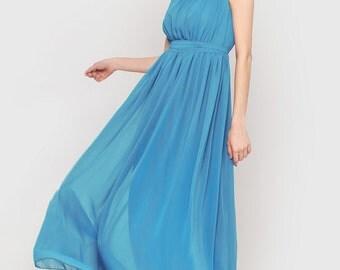 Caroline - blue dress, floor length dress, beautiful dress, summer dress, evening dress, prom dress, bridesmaid dress, bridesmaids dresses