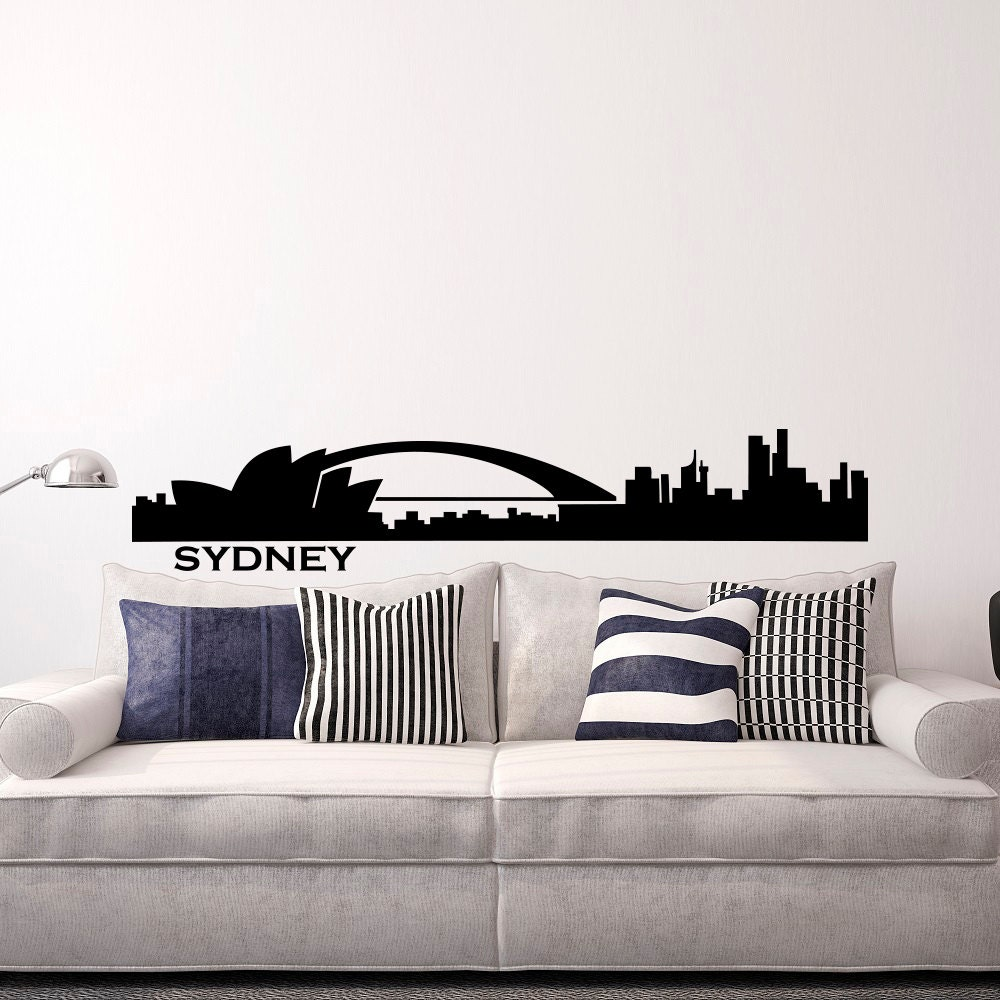 28 wall stickers sydney wall stickers signage sydney famous wall stickers sydney sydney skyline wall decal cityscape city silhouette australia