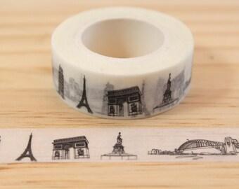 Masking tape Paris, France, Washi tape, adhesive tape, decorative tape, scrapbooking