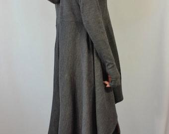 Oversize Hoodie Sweater / Long Sleeve Sweater Dress / Knitwear Cotton Dress / Hooded Sweater Top / / EXPRESS SHIPPING