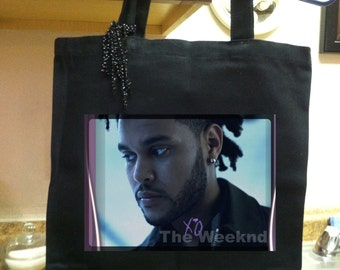 The Weeknd Tote, Music Artist The Weeknd Bag, Music Artist Abel Tesfaye, One of a Kind Tote, Original Design