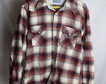 Flannel Button Up Shirt - Vintage Flannel Shirt - Pendelton Wool Shirt - Men's Size XL - Portland Oregon