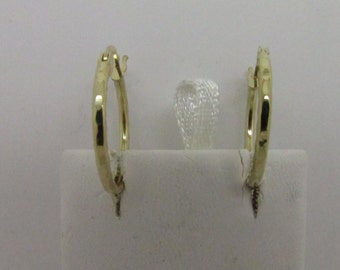 14K Solid Yellow Gold Hoop Earring