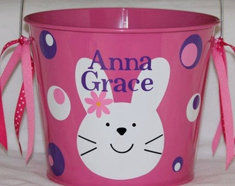 Easter Bucket Personalized 5qt Galvanized Bucket Children / Boy / Girl