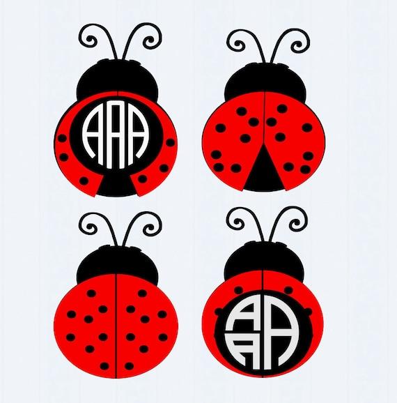 ladybug svg frames lady bug beetle svg cut by jencraftdesigns