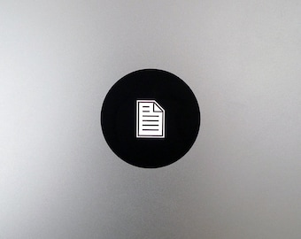 Document Icon Macbook Decal / Symbol Macbook Pro Sticker