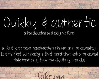 Handwritten Font Download- Digital Font For Commercial Use- MRF Quirky and Authentic Hand Font- True Type Font, ttf