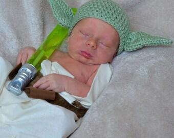 Star Wars Inspired Halloween Yoda Hat - Star Wars Halloween Yoda Costume - Yoda Hat - Star Wars Baby Gift - Geek Baby - Gift for Baby Boy