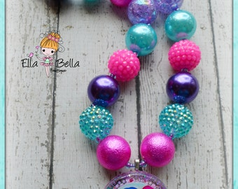 Shimmer and Shine inspired chunky necklace
